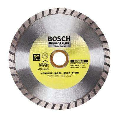 5 in. General Purpose Diamond Circular Saw Blade for Cutting Concrete, Block, Brick, and Stone