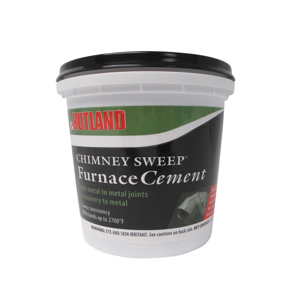 Refractory Cement Home Depot : Rutland fl oz chimney sweep furnace cement tub fsc