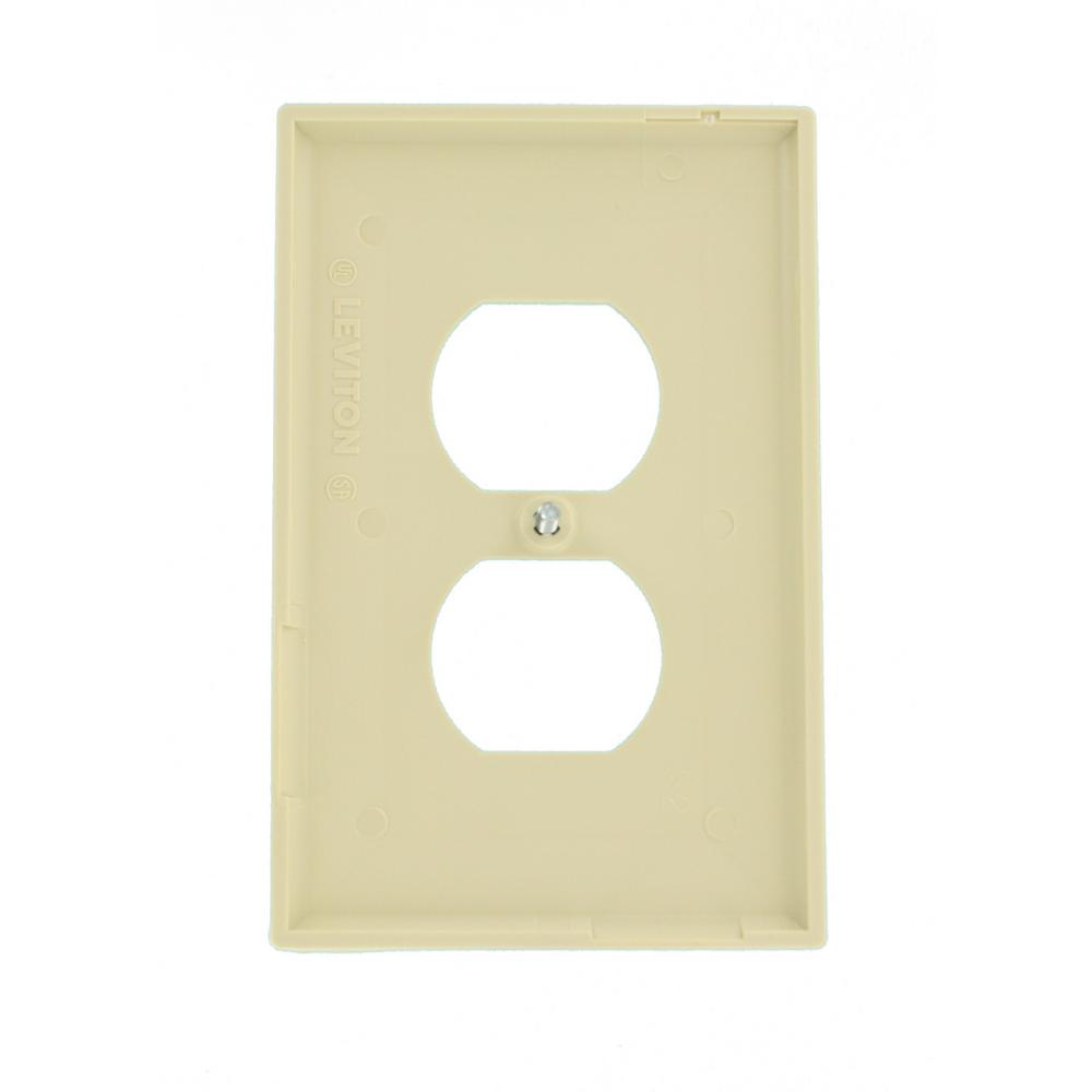 Leviton  White  1 gang Duplex Outlet  Wall Plate  10 pk Thermoplastic Nylon