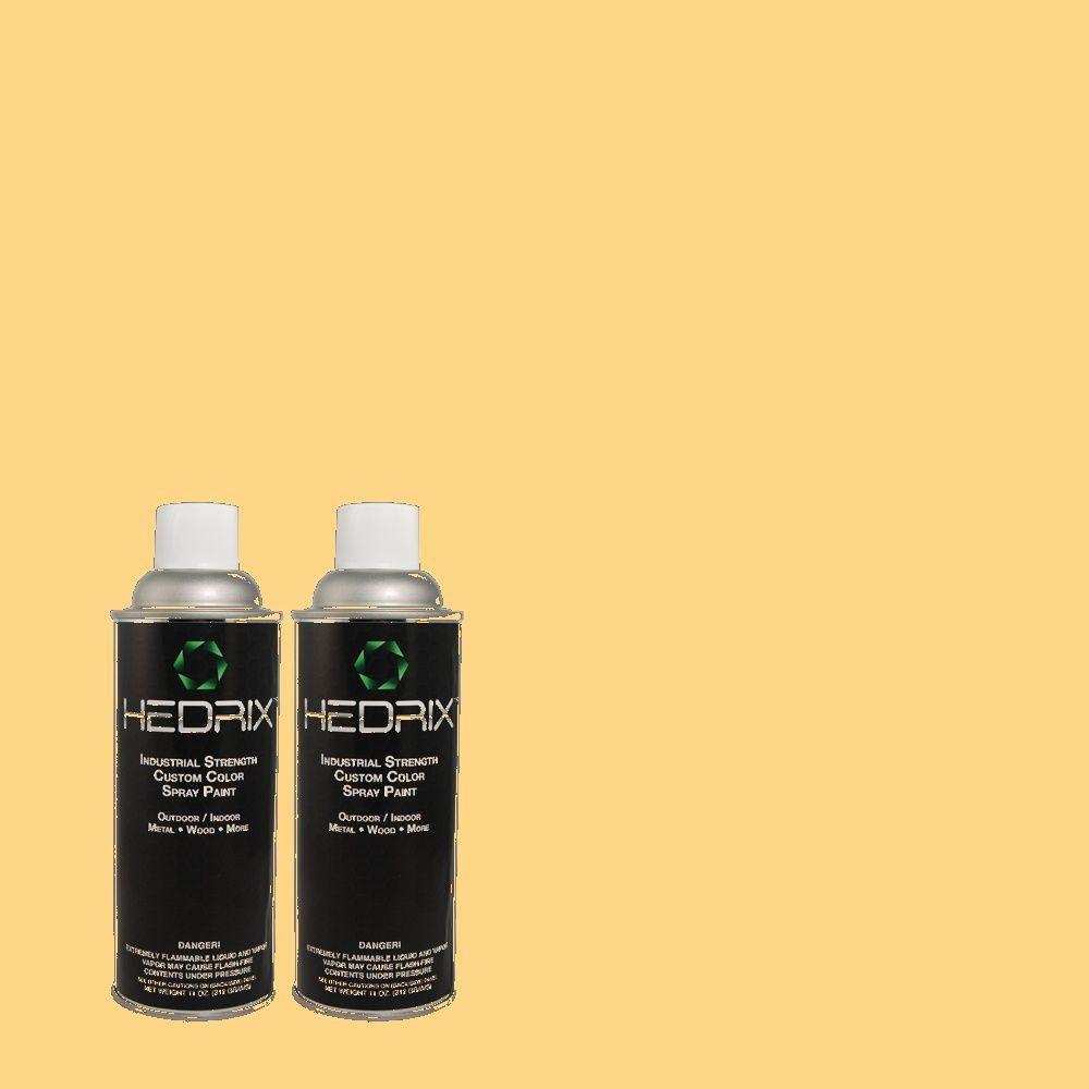 Hedrix 11 oz. Match of 300B-5 Honey Bird Low Lustre Custom Spray Paint (2-Pack)