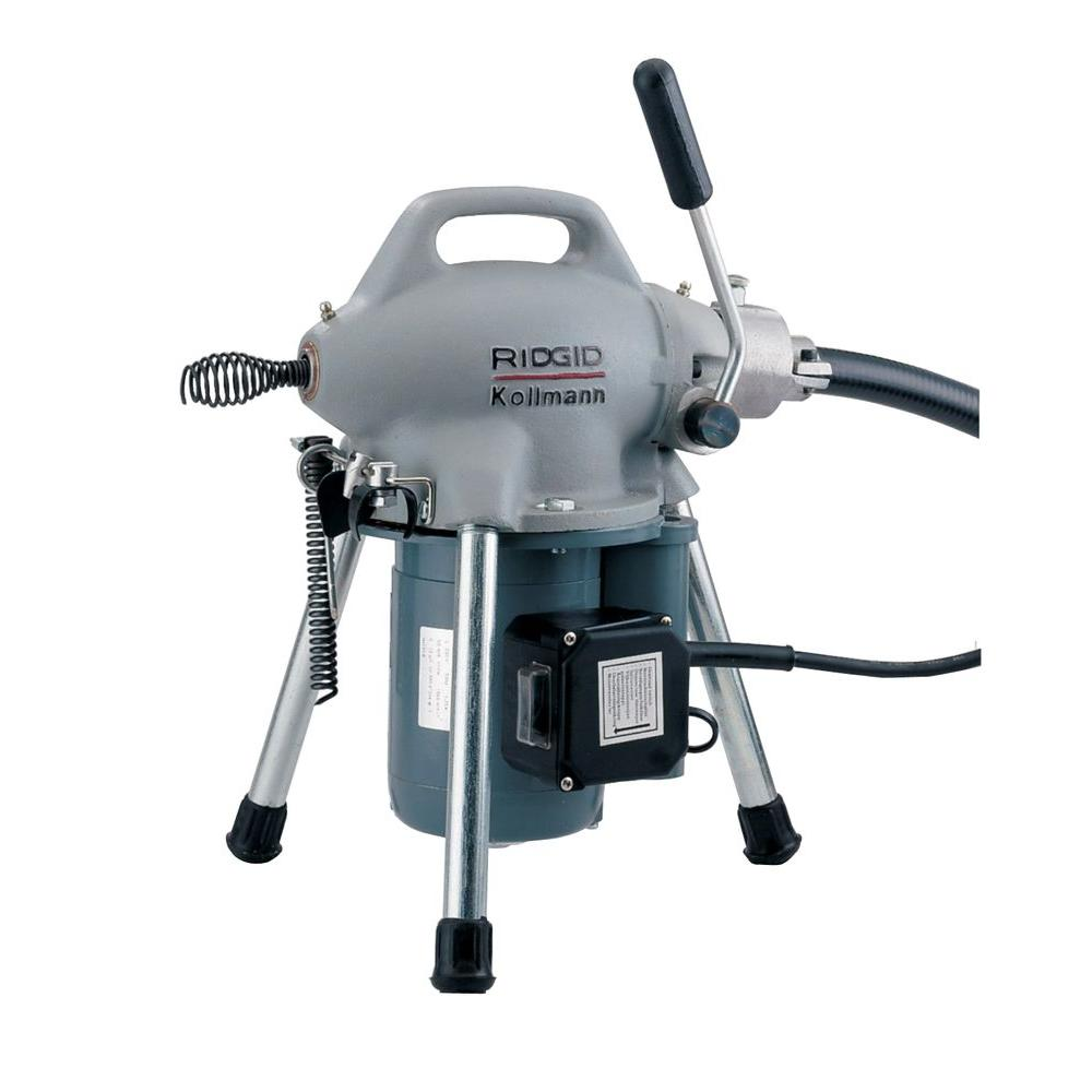 RIDGID 115-Volt K-50 Sectional Drain Cleaner Machine for 1-1/4 in. to 4 in. Drain Lines