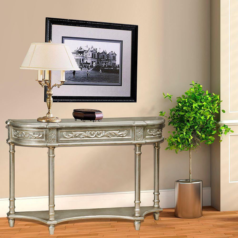 Pulaski Furniture Silver Storage Console Table