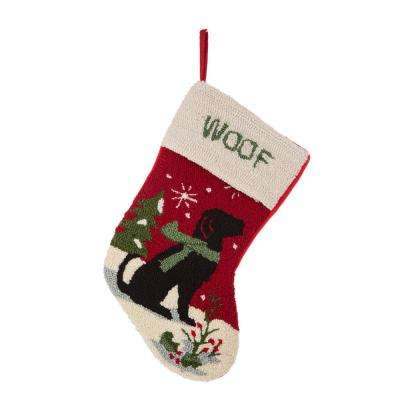 20 in. L Hooked Stocking, Dog