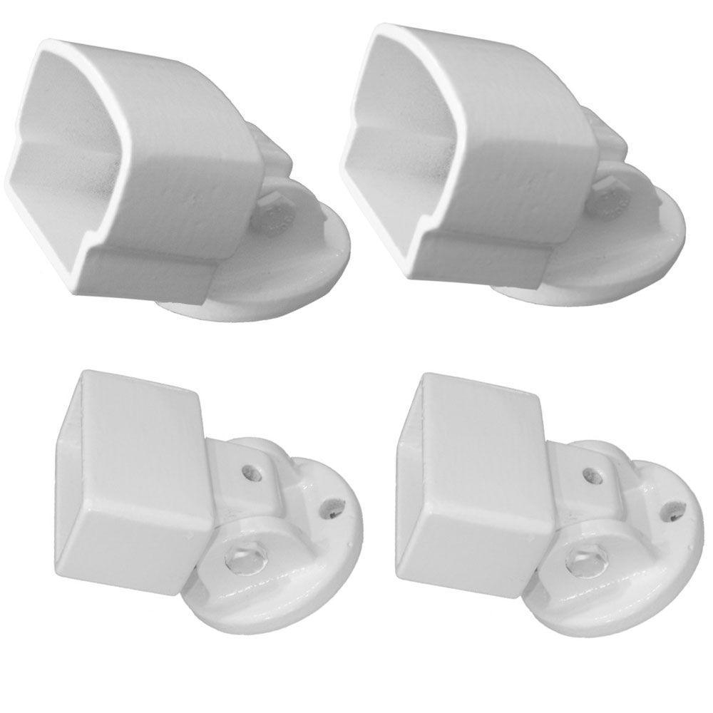White Aluminum Pivot Mount Kit