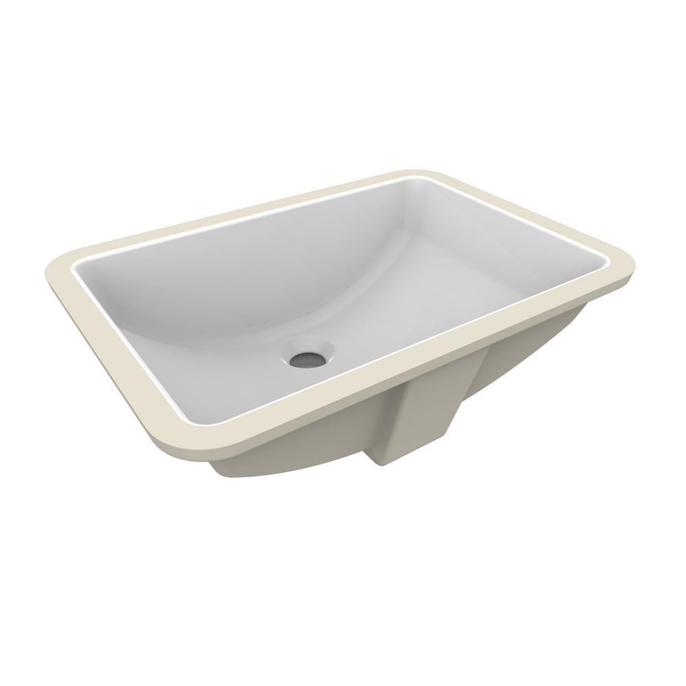 Ren-Wil Fusion Under-Mount Ceramic Basin Sink in White
