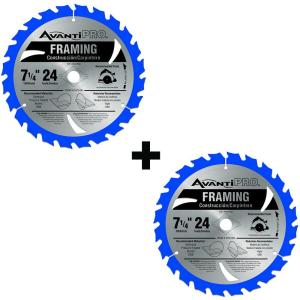 2-Pack Avanti Pro 7-1/4 in. x 24 Teeth per in. Framing Saw Blade Deals