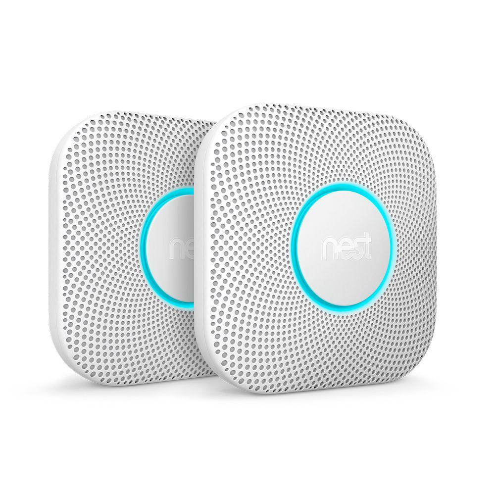 Google Nest Protect Wired Smoke and Carbon Monoxide Detector (2-Pack)