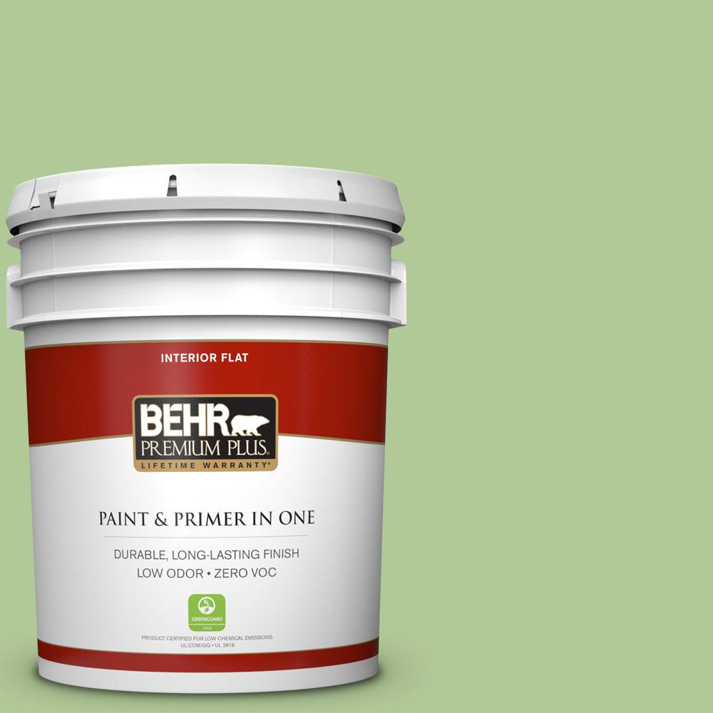 BEHR Premium Plus 5-gal. #430D-4 Garden Spot Zero VOC Flat Interior Paint