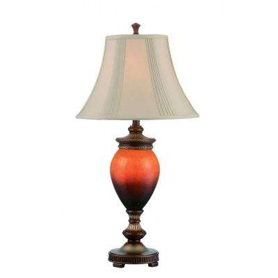 33 in. 9-Light Aged Bronze Table Lamp