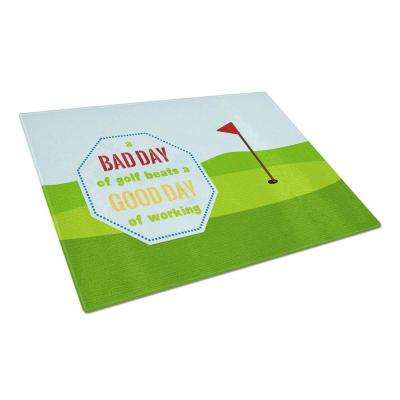 A Bad Day at Golf Tempered Glass Large Cutting Board