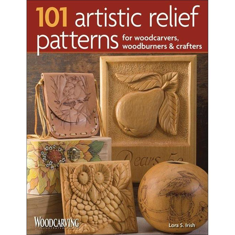 null 101 Artistic Relief Patterns for Woodcarvers, Woodburners & Crafters Woodcarving Illustrated Book