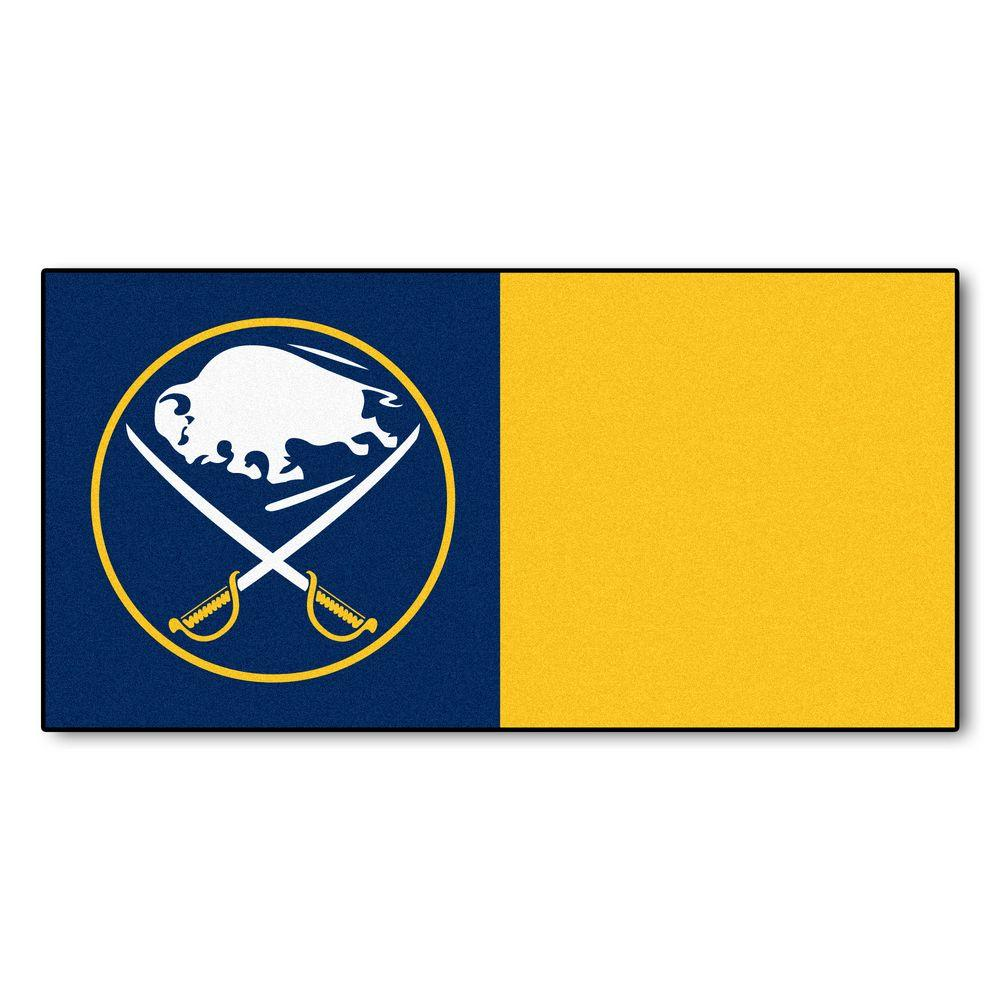 Fanmats Nhl Buffalo Sabres Blue And Yellow Pattern 18 In