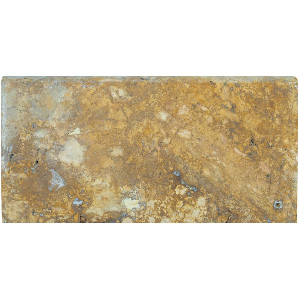 MSI Riviera 12 in. x 24 in. Brushed Travertine Pool Coping (15 Piece / 30 Sq. ft. / Pallet)
