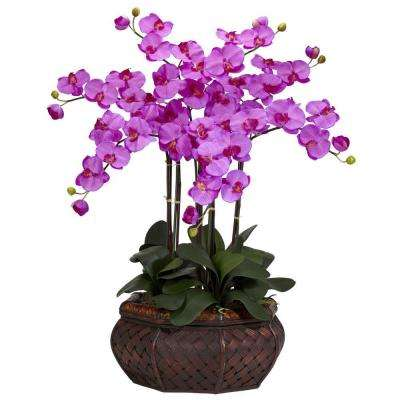 30 in. H Orchid Large Phalaenopsis Silk Flower Arrangement