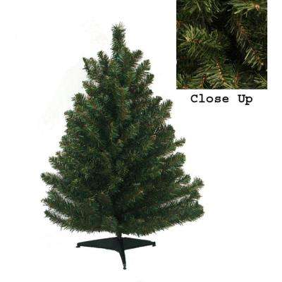 18 in. Natural Two-Tone Pine Artificial Christmas Tree - Unlit