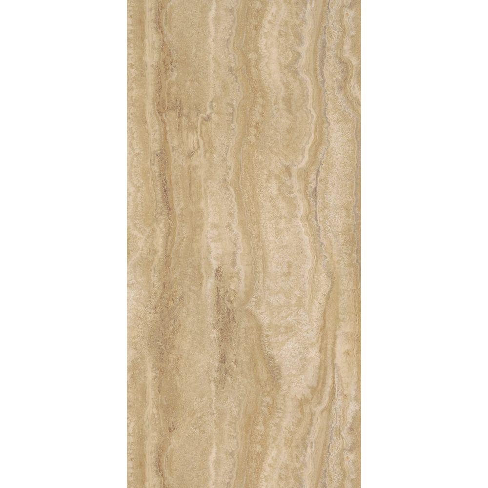 TrafficMASTER Allure 12 In. X 24 In. Ivory Travertine Luxury Vinyl Tile  Flooring (