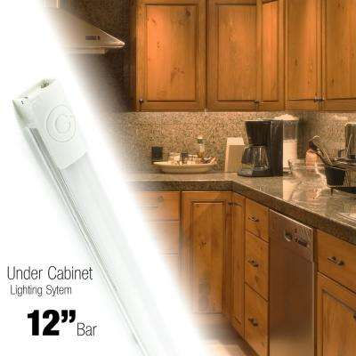 12 in. LED Neutral White Under Cabinet Light (4000K) with Linear Touch On/Off and Plug-in
