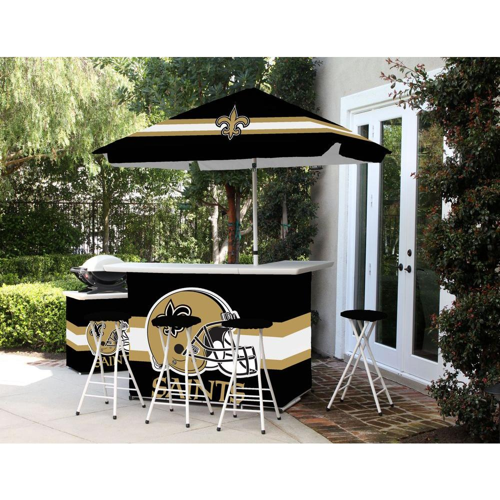 Best Of Times New Orleans Saints 6 Piece All Weather Patio Bar Set With