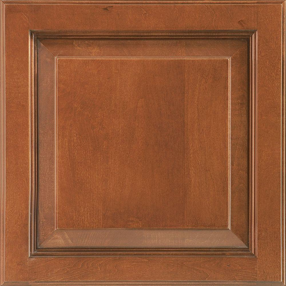 American Woodmark 14-9/16x14-1/2 in. Cabinet Door Sample in Alexandria Maple Auburn Glaze