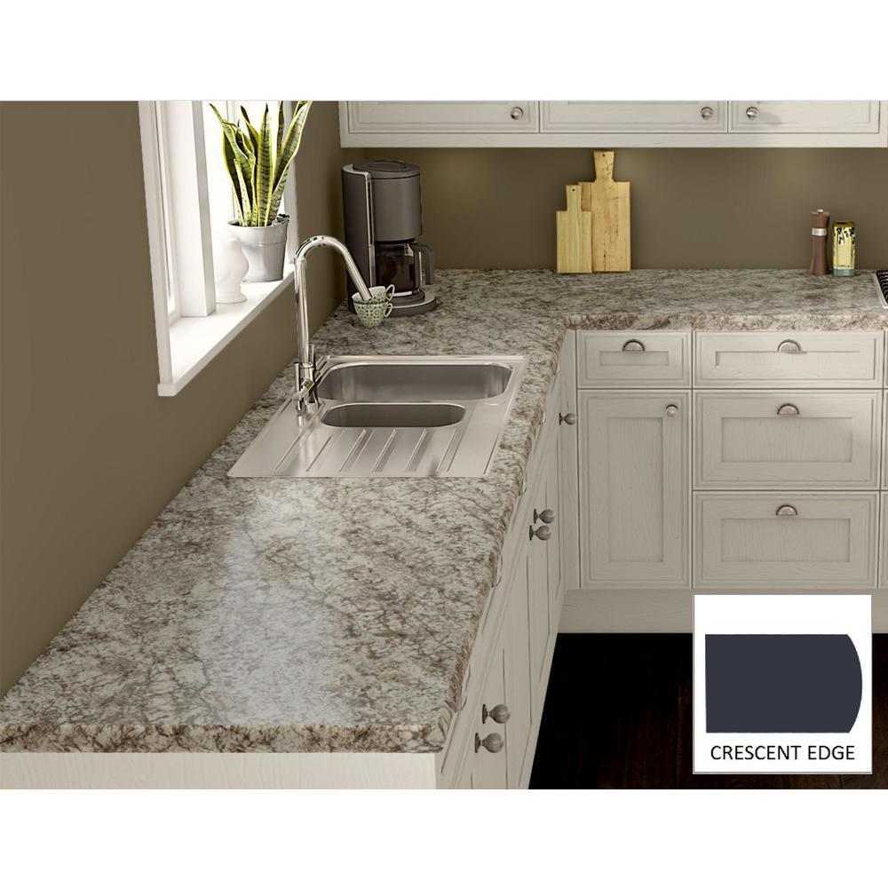 Wilsonart bianco romano laminate custom crescent edge c f for Laminate countertops cost per linear foot