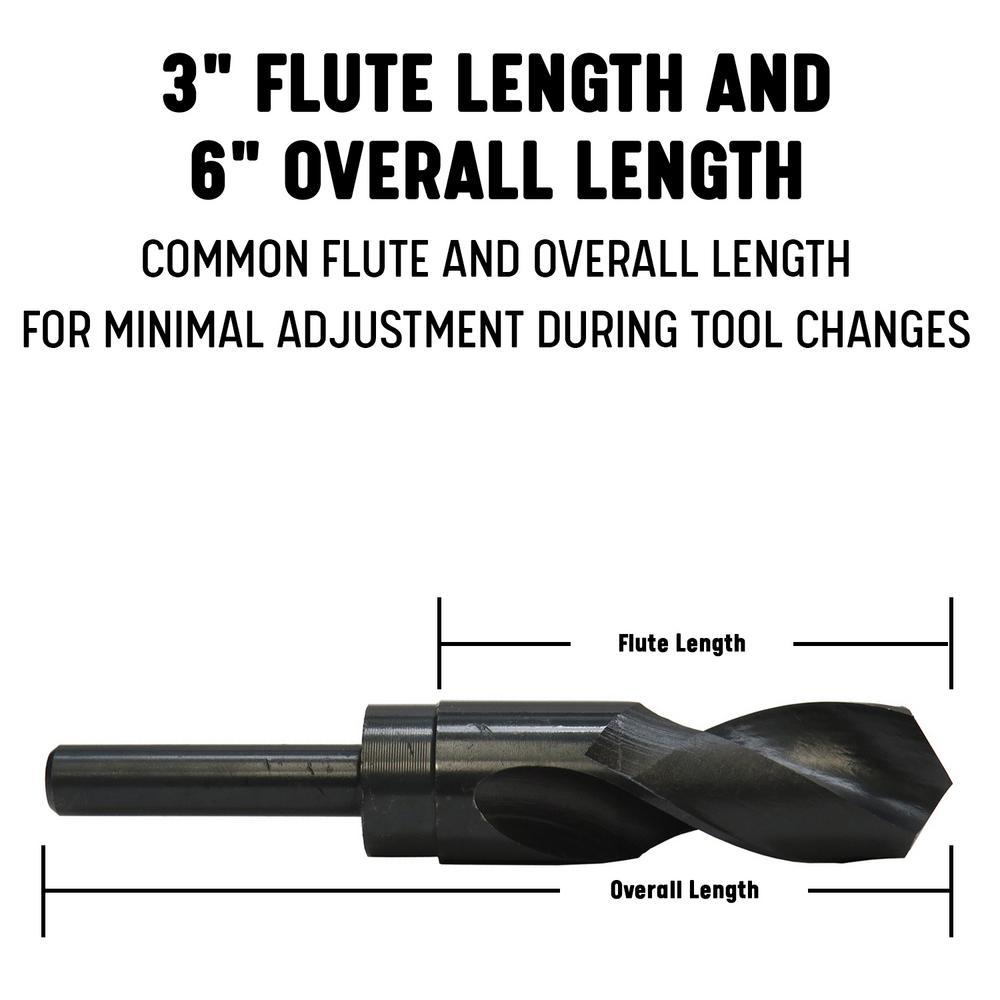 1//2 Shank USA 28.5 mm Silver /& Deming Drill