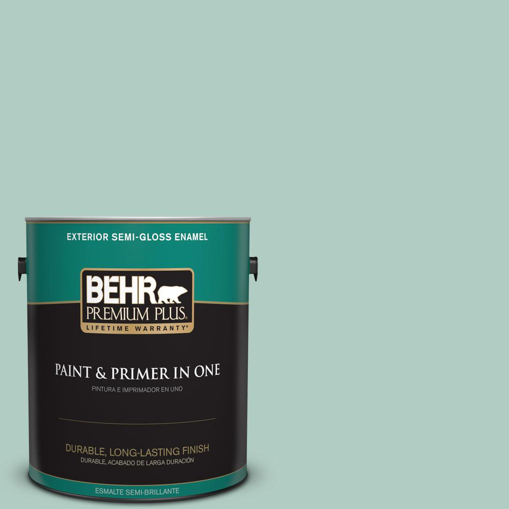 1-gal. #M430-3 Wintergreen Dream Semi-Gloss Enamel Exterior Paint