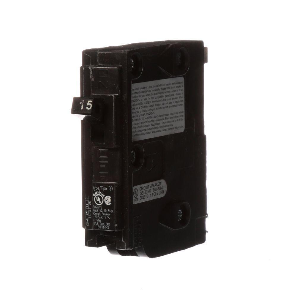 15 Amp Single-Pole Type QD QO Replacement Circuit Breaker