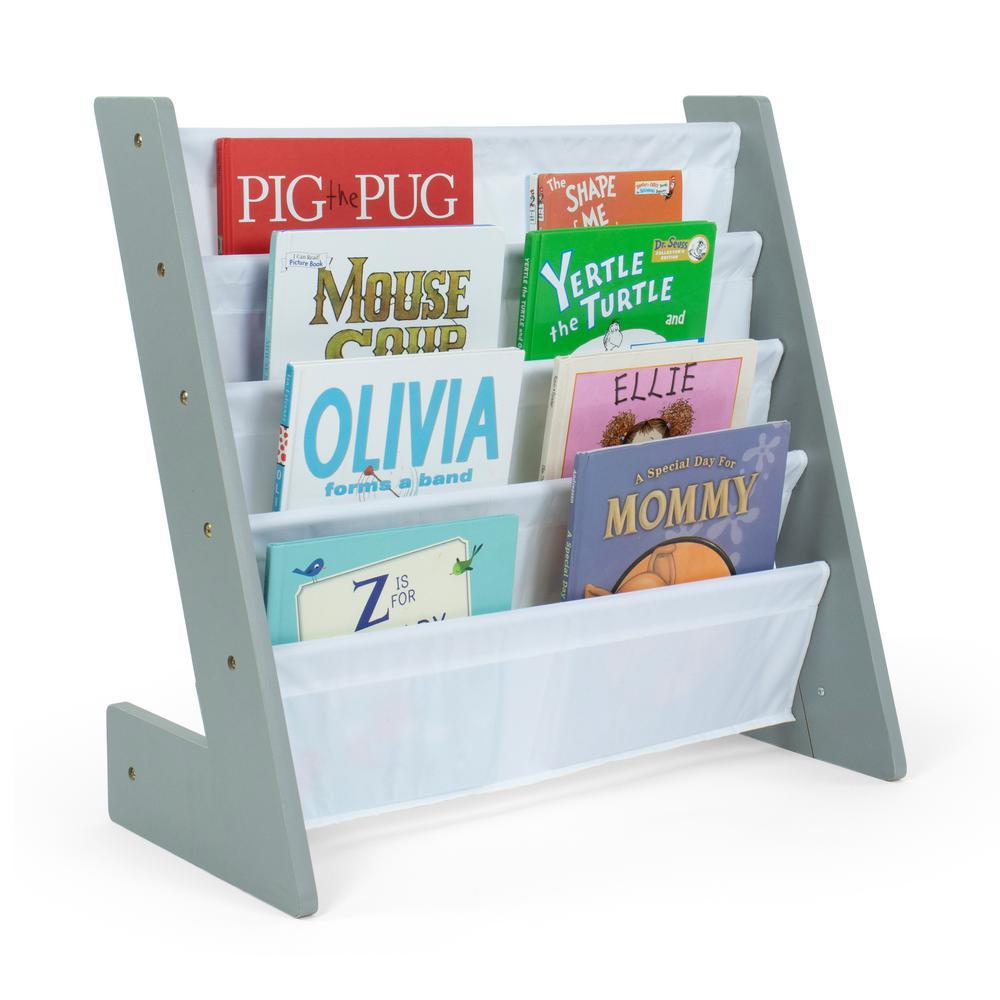 Inspire Grey Bookshelf 4 Tier Book Organizer