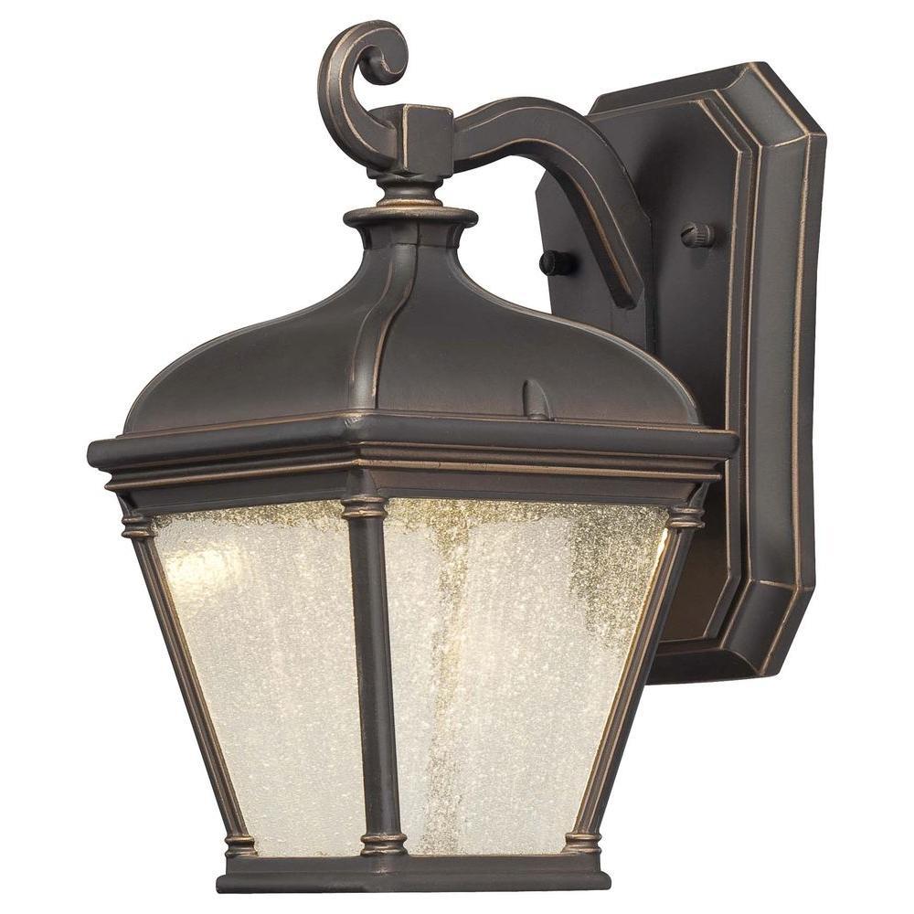 Lauriston Manor 1-Light Oil-Rubbed Bronze Outdoor Wall Mount Lantern
