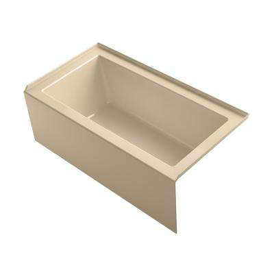 Underscore 5 ft. Right-Hand Drain Rectangular Apron Front Bathtub in Mexican Sand