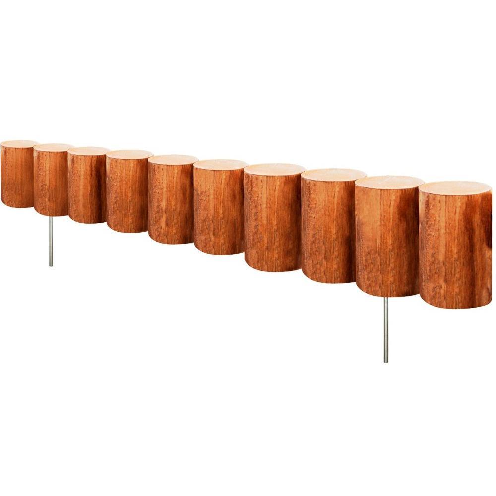 Greenes Fence 30 In Wood Log Edging 6 Pack Rc43m 6c
