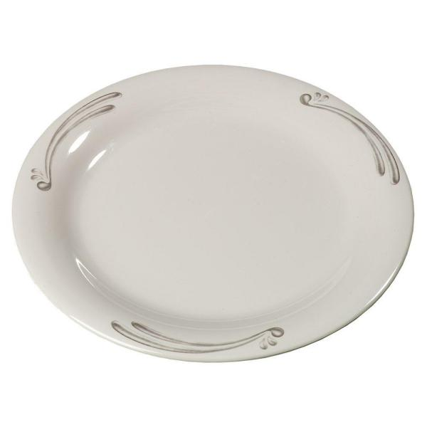 Carlisle 9 in. Diameter Melamine Narrow Rim Dinner Plate in Versailles