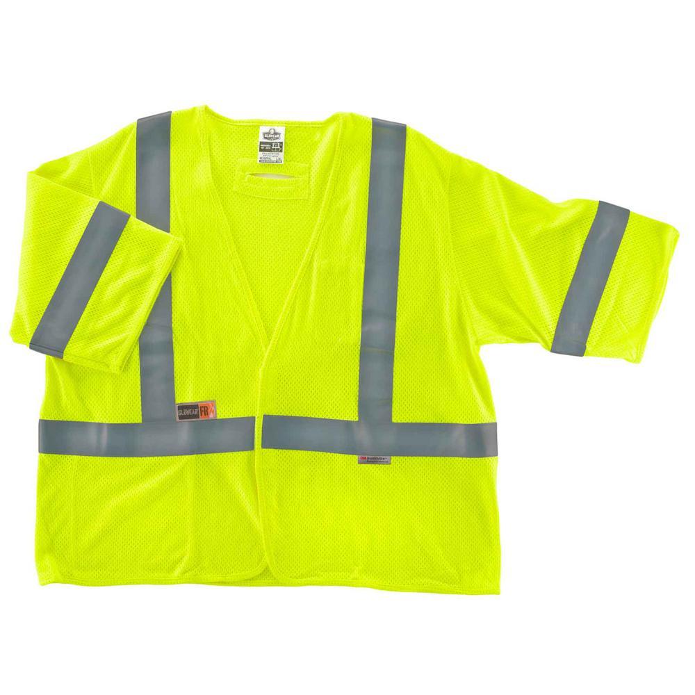 GLoWEAR S/M Lime Hi-Vis Type R Class 3 FR Modacrylic Vest
