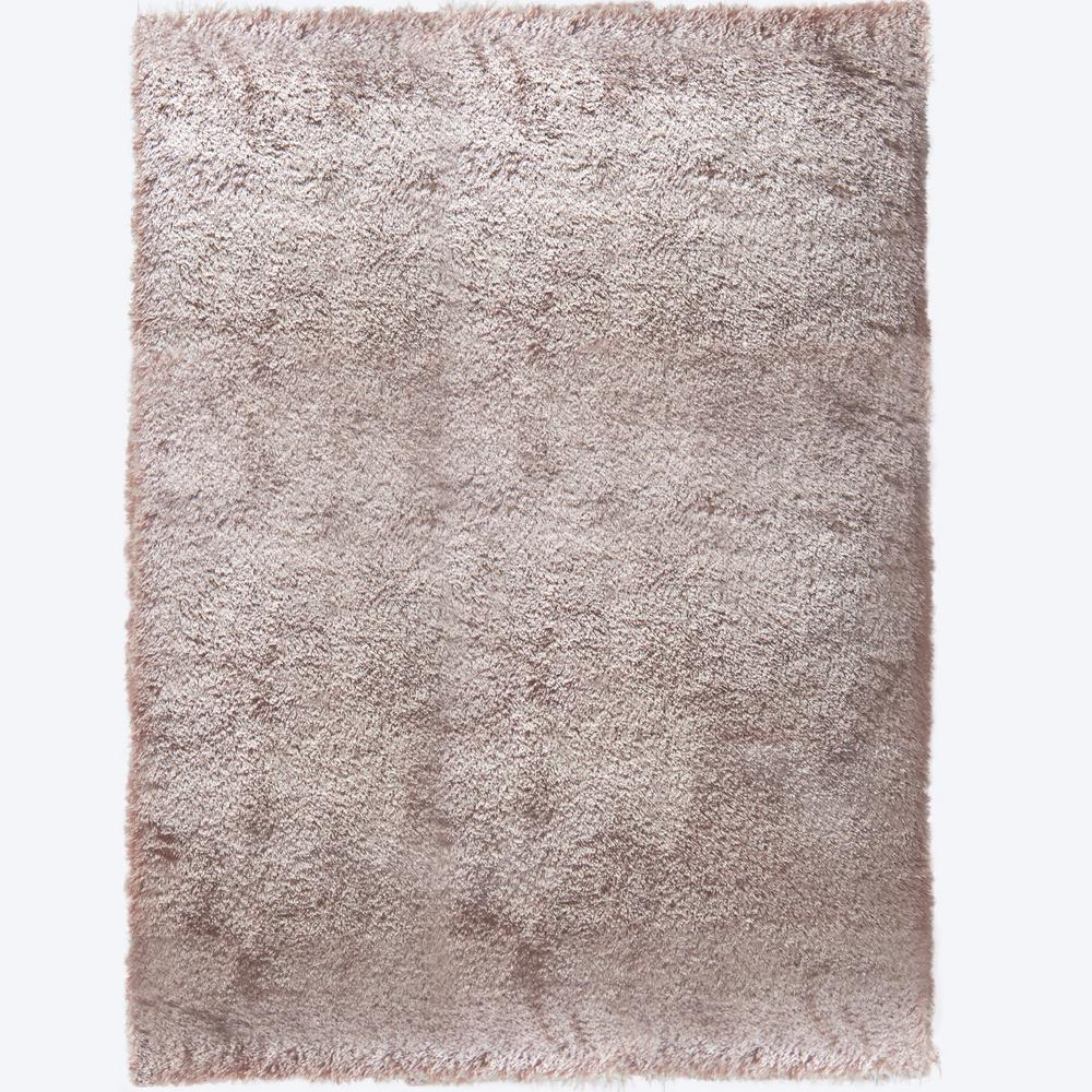 Montage Beige Solid Shag 5 ft. 2 in. x 7 ft.