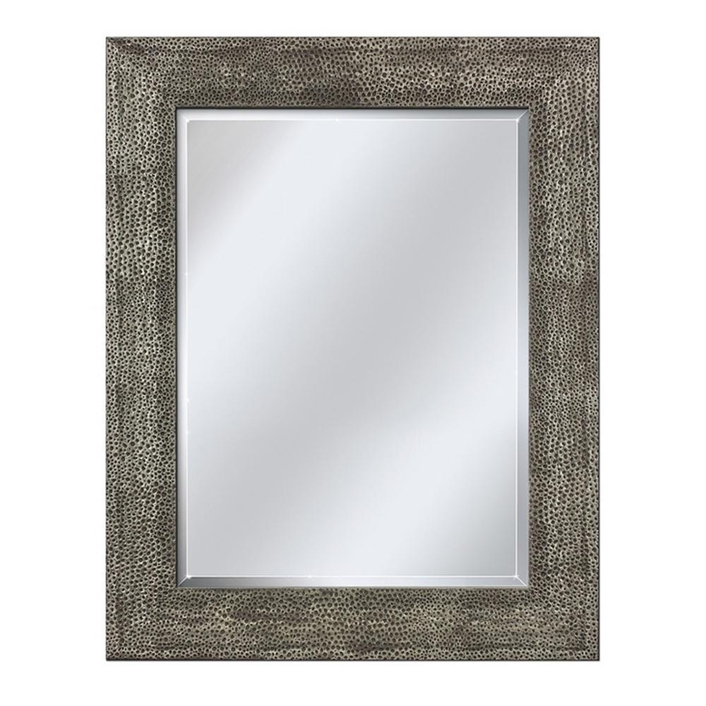 Head West 26 In X 36 Framed Vanity Mirror Pewter
