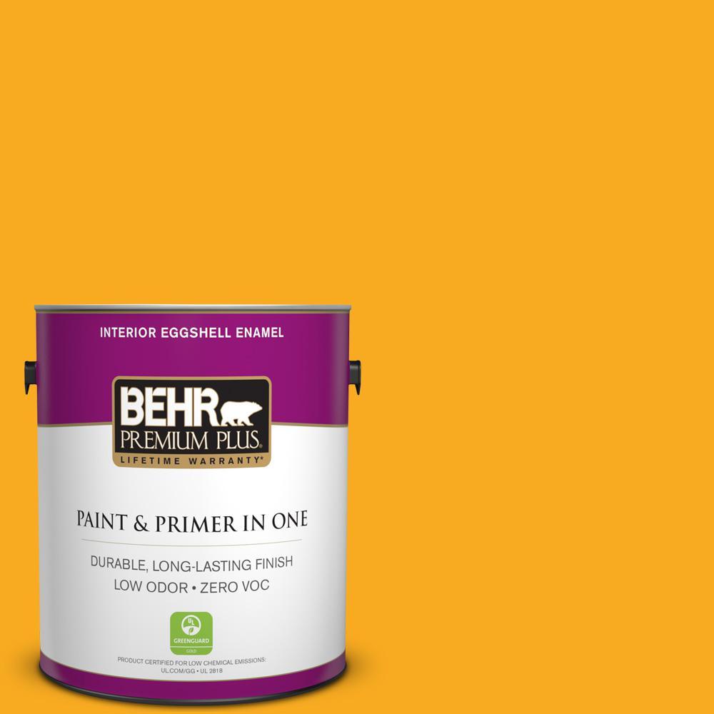 BEHR Premium Plus 1-gal. #P270-7 Sunny Side Up Eggshell Enamel Interior Paint