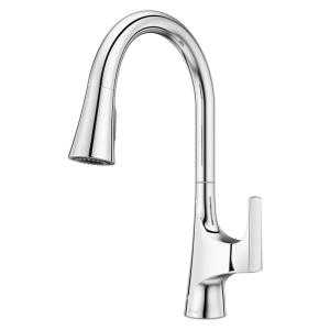 Norden Single-Handle Pull-Down Sprayer Kitchen Faucet in Polished Chrome
