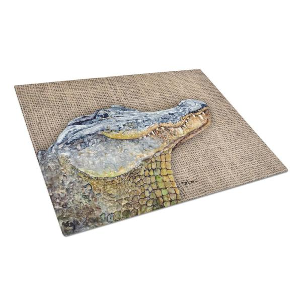 Caroline's Treasures Alligator Tempered Glass Large Cutting Board 8733LCB