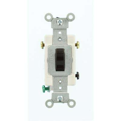 20 Amp Commercial Grade 3-Way Toggle Switch, Brown