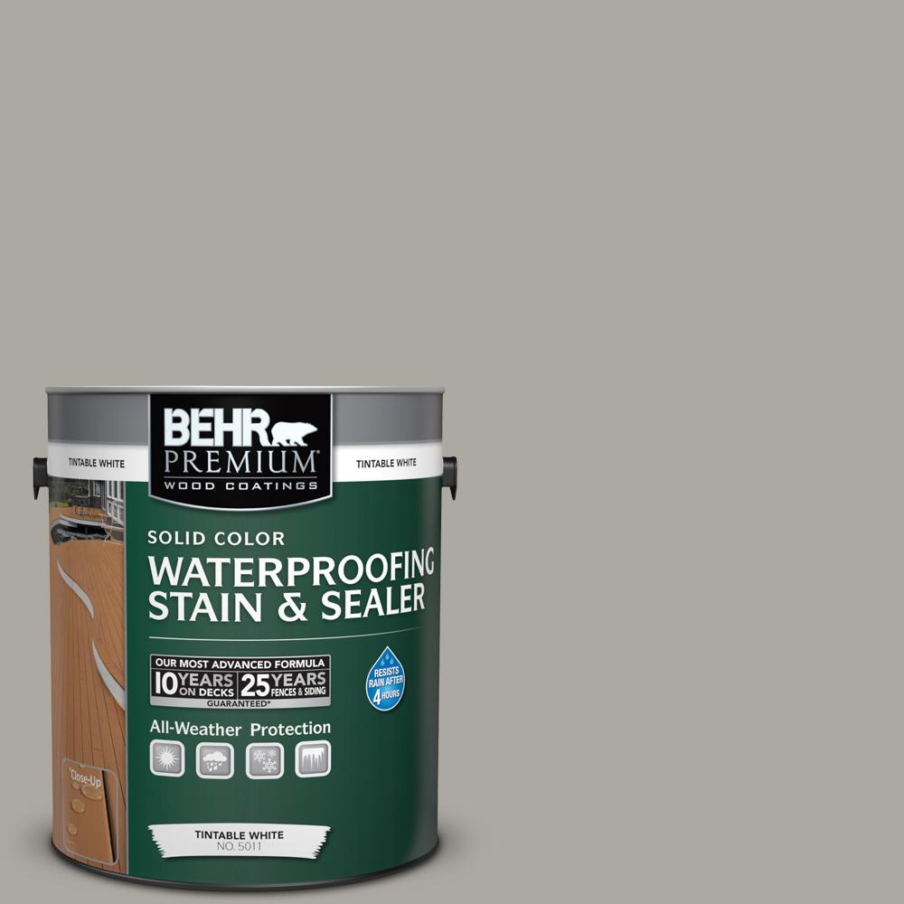 1 gal. #N360-3 Still Gray Solid Color Waterproofing Exterior Wood Stain