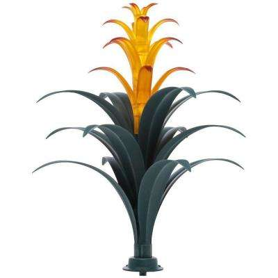 Bromeliad Brown and Green Plant Solar Integrated LED Light