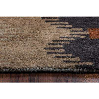 Tumble Weed Loft Multicolor Southwestern Hand Tufted Wool 5 ft. x 8 ft. Area Rug
