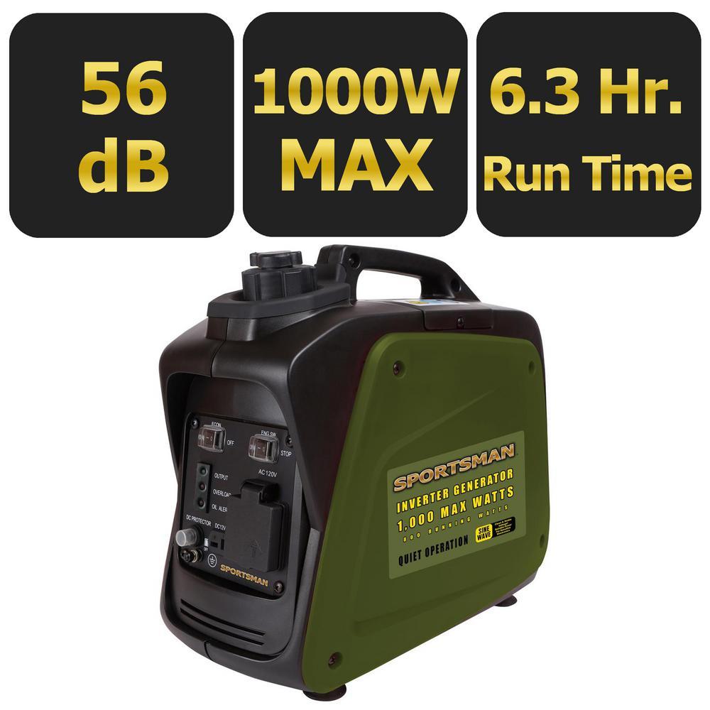Sportsman 1,000-Watt Gasoline Powered Digital Inverter Generator by Sportsman