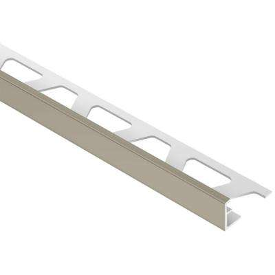Jolly Grey 3/8 in. x 8 ft. 2-1/2 in. PVC L-Angle Tile Edging Trim