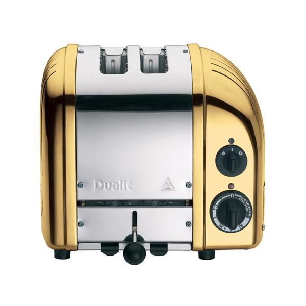 Dualit New Gen 2-Slice Brass Wide Slot Toaster with Crumb Tray