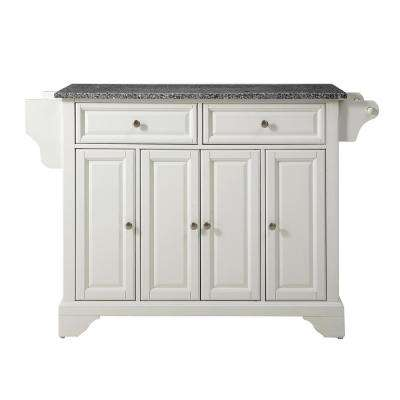 Lafayette White Kitchen Island with Granite Top
