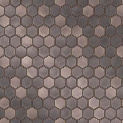 Hexagon Tile Vinyl Peelable Roll (Covers 28 sq. ft.)