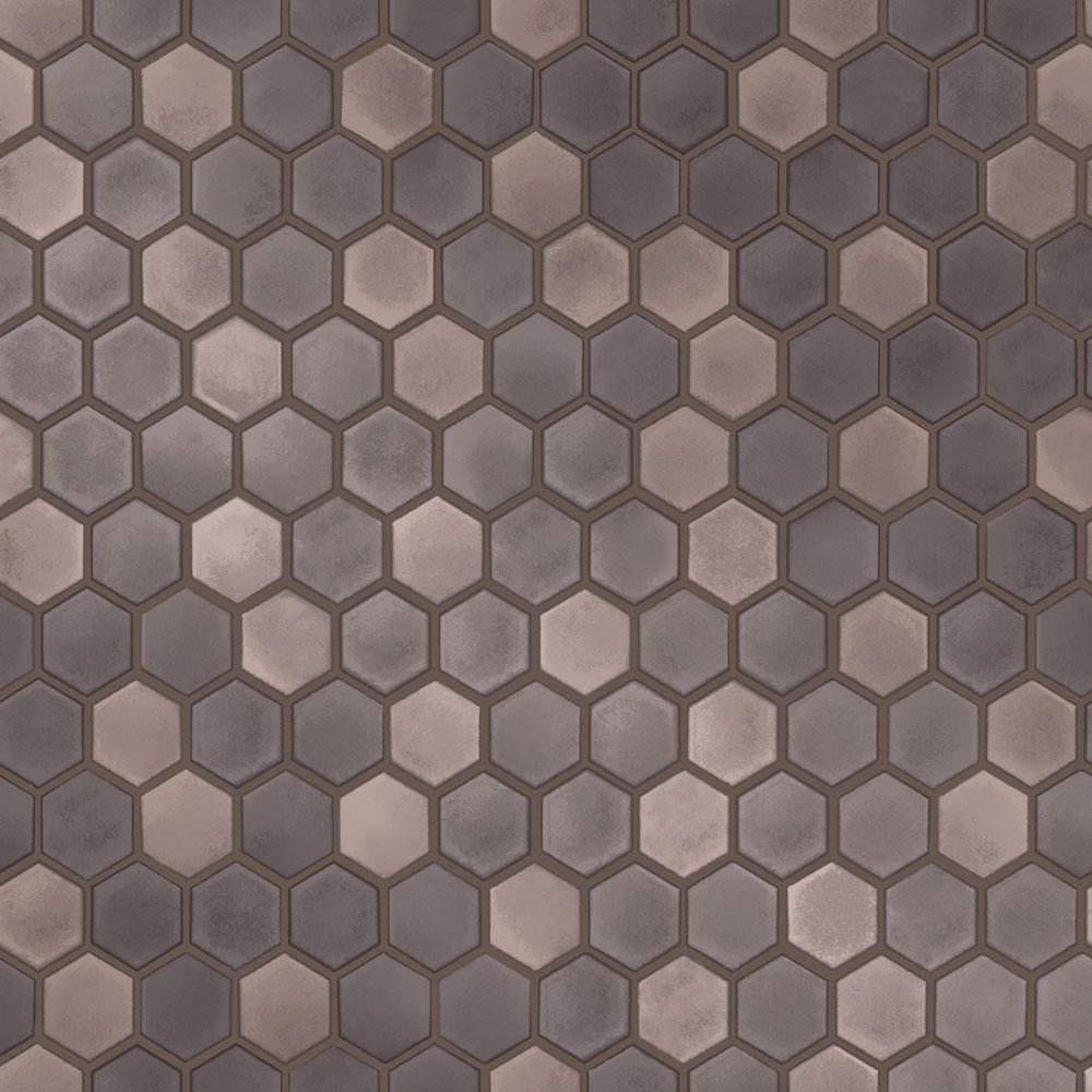 Tempaper Hexagon Tile Regal Noir Self-Adhesive, Removable Wallpaper TE10554