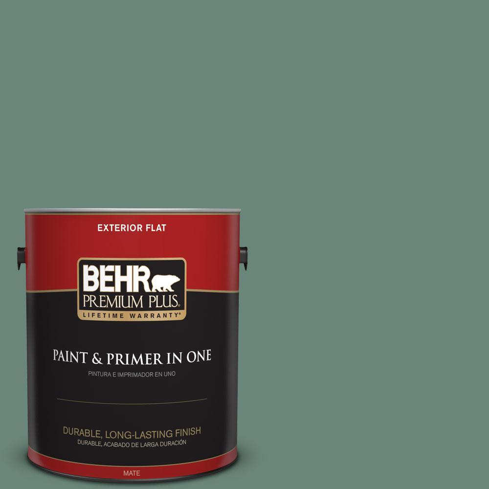 BEHR Premium Plus 1-gal. #470F-5 Garland Flat Exterior Paint
