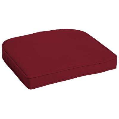 Caliente Canvas Texture Contoured Outdoor Seat Cushion